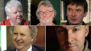 Val McDermid, Iain Banks, Ian Rankin, Alexander McCall Smith and Christopher Brookmyre