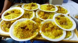 These curries were provided by a kebab shop on the Shankill Road in Belfast