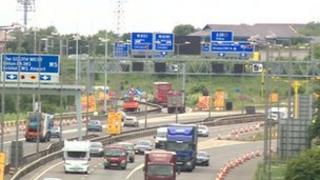 M4 and M5 Almondsbury interchange roadworks