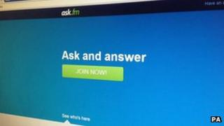 Ask.fm homepage