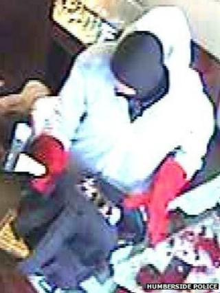CCTV image of one of the robbers