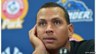 Alex Rodriguez at a press conference