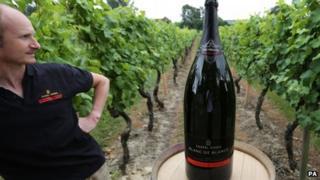 Winemaker Andrew Parley looks at the 15 litre Nebuchadnezzar bottle