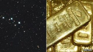 Explosion in space and gold