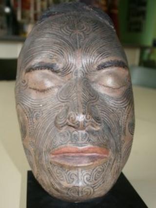 Maori head mask