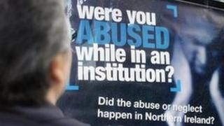 Advertising poster calling for abuse victims to give evidence to the inquiry