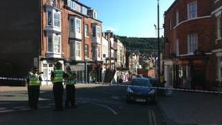 Police cordon in Scarborough