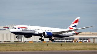 A British Airways plane taking off from Heathrow