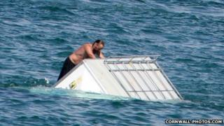 Freedom Surf trailer under water