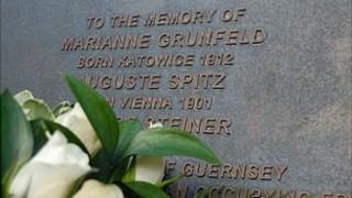 Guernsey holocaust plaque