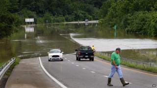 Interstate 44 near Jerome, Missouri, on 7 August 2013