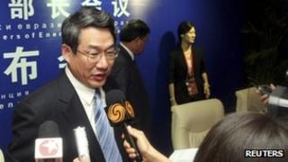 File photo: Liu Tienan at a conference, 24/09/2011