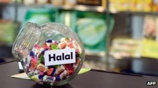 File photo: Halal candies on display in a supermarket