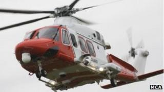 The Portland search and rescue helicopter