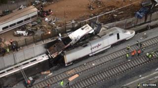 Wreck of train after 24 July derailment