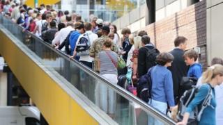 Passenger entering Gatwick Airport