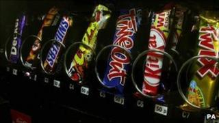 Chocolate in a vending machine