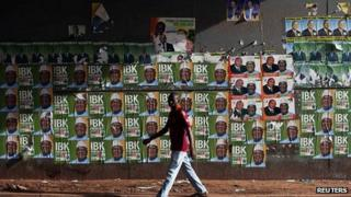 Campaign posters in Bamako