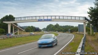 Bournemouth 'safe journey' sign