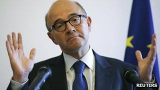 France's Finance Minister Pierre Moscovici in London, 17 Sep 12