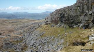 Aberystwyth Ramblers on a mountain walk