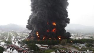 Fire at Puerto La Cruz oil refinery, Venezuela (11 August)