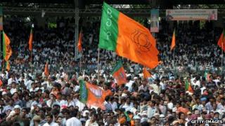 The BJP's rally in southern Hyderabad city drew huge crowds
