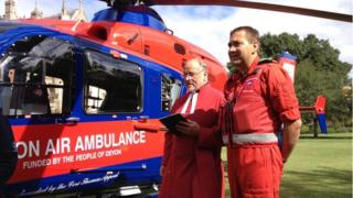 Air ambulance blessing, Exeter