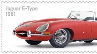Jaguar E-Type stamp