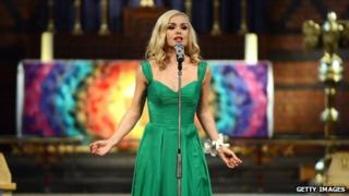 Katherine Jenkins at St David's Church in Neath