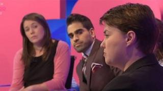 Aileen Campbell [left] was on the panel with Ruth Davidson [right]