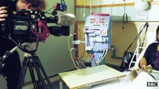 Filming in a hospital