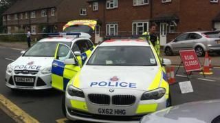 Police cordon in Guildford