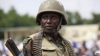 Nigerian soldier in Maiduguri