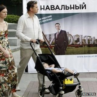 Pro-Navalny poster in Moscow, 5 Jul 13