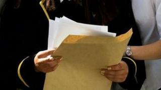 Exam results being opened