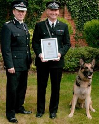 Kaiser, PC Andy Kemp and Chief Constable Stephen Kavanagh