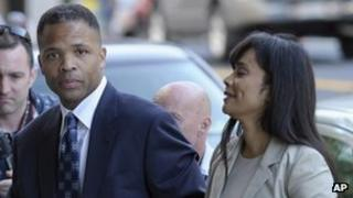Jesse Jackson Jr and his wife Sandra arrive at court in Washington DC on 14 August 2013