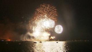 British Firework Championships in Plymouth