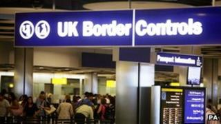 UK border controls at Heathrow