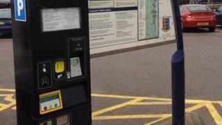 car park ticket machine