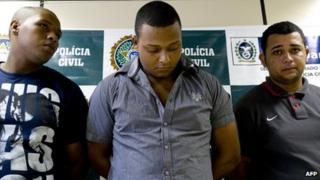 Wallace Aparecido Silva, Carlos Armando Costa dos Santos and Jonathan Froudakis de Souza, 2 April 13 (left to right)