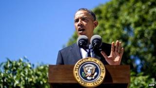 Barack Obama makes statement on Egypt. 15 Aug 2013