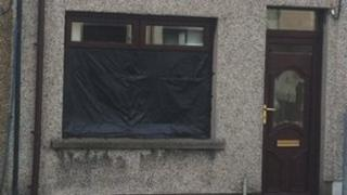 A house at Herbert Avenue in Larne was one of two attacked
