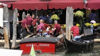 Gondola in Venice, 17 August