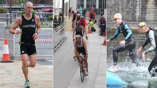 Triathlon competitors