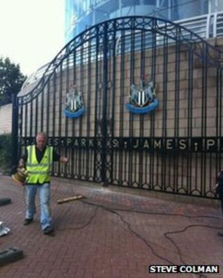 Old Newcastle United gates reinstalled at St James Park