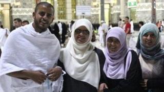 Ibrihim Halawa with sisters Fatima, Omaima and Somaia