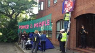 Protest at Cuadrilla HQ