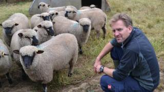 James Meller and his Shropshire sheep